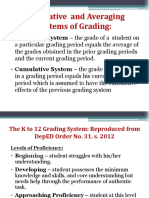 Cumulative and a Averaging Systems of Grading.ppt Lower Version
