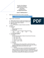 Lesson Plan Mathematics 6 DRR