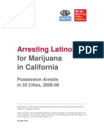 Arresting Latinos for Marijuana in California