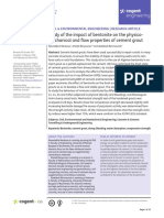 Study of the Impact of Bentonite on the Physico Mechanical and Flow Properties of Cement Grout
