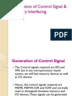 04- Generation of Control Signals & Address Decoding