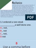 Syntax and Mechanics Quiz