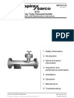 STD Spray Type Desuperheater-Installation Manual