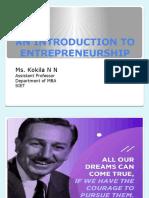 An Introduction to Entrepreneurship