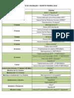Calendario Vacinal DF 2018
