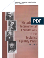 The Historical and International Foundations of the Socialist Equality Party (Sri Lanka)-in Sinhala