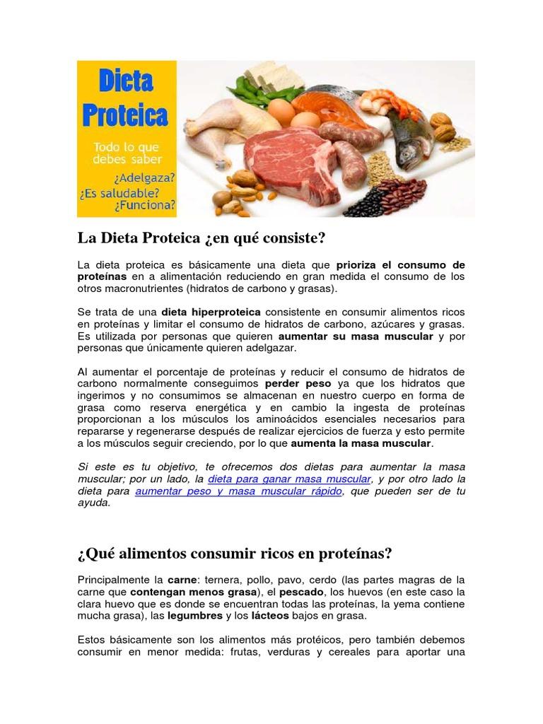 Dieta proteica argentina plan semanal