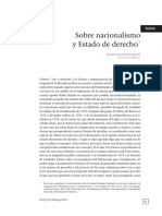 Sobre Nacionalismo y Estado de Derecho