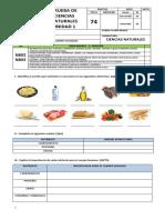 prueba ciencias naturales  nutrientes 8° básico