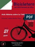 """En el Bicicletero del CRAI... """"Aula abierta sobre la Tabla Periódica"""""""