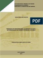 PROPOSTA DE METODOLOGIA ALTERNATIVA PARA DETERMINAÇÃO DA ACIDEZ DO SOLO