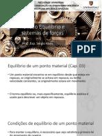 Aula 03 - Revisão Equilíbrio de Um Ponto Material