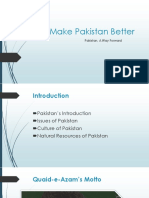 how to make better pakistan