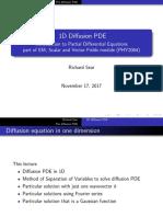 1D Diffusion PDE
