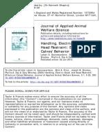 5 22 Handling Electric Goad and Head Restraint Effects on Calves Behavior