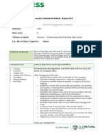 Data Management Analyst