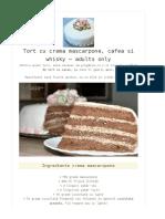 Tort Mascarpone Cafea Whisky