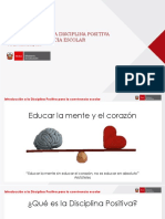 Introducción a La Disciplina Positiva Para La Convivencia Escolar.