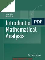 Introduction to Mathematical Analysis-Igor Kriz
