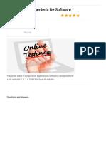 Preguntas de Ingeniería de Software - ProProfs Quiz
