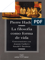 Hadot (2009) La Filosofia Como Forma de Vida - comments cap. 7.pdf