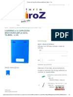 Caderno 1_4 Capa Dura Brochura 96fls Azul Tilibra - 1 Un