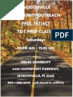 jacksonville community outreach free test prep