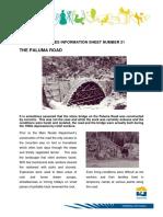 Heritage Info Sheet 21 Paluma Road