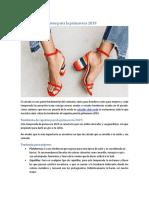 Tendencia de Zapatos Para La Primavera 2019