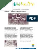 Heritage Info Sheet 26 Mt Spec