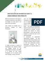 Heritage Info Sheet 23 John Charles Von Stieglitz