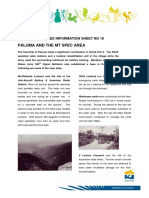 Heritage Info Sheet 16 Paluma and the Mt Spec Area