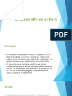 El Desarrollo en El Perú (1)