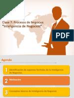 Clase 7 - Business Intelligence Procesos de Negocios