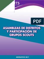 Instructivo de Asambleas Distritales y Participacin de Grupos Scouts 2017