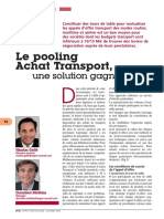 Tribune-40-Argon - Le pooling Achats transport + méthodo appel offre + critères de choix- 2009