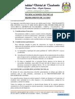 ESPECIFICACIONES TECNICAS PARA ESCALERA