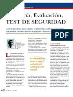 Auditoría, Evaluación, Test de Seguridad