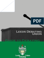 Leeds Debating Union Guide Booklet