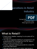 Operations in Retail Industry