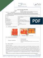 Certificado Cuñas Poliuretano 5 Ton