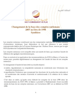 Synthese Du Rapport Des Comptes Nationaux a Base 2007 3 Juin 2015