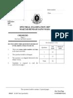 SPM Percubaan 2007 MRSM Chemistry Paper 3