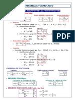 Fórmulas estadística