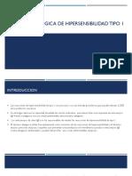 Base Inmunológica de Hipersensibilidad Tipo 1
