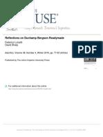 LUISETTI Reflections on Duchamp. Bergson Readymade.pdf
