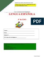 Evaluación por competencias - lengua - 4º ESO