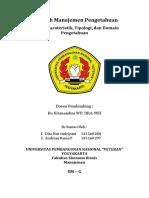 Karakteristik, Tipologi Dan Domain Pengetahuan