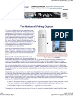 The Motion of Falling Objects