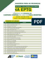 Tabela de Linhas EPTG - Passam Pela Faixa Reversa